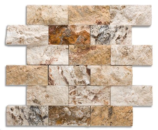 19.-Premier de Piedra-Picasso-Select-travertino-2-x-4-división-cara-mosaico